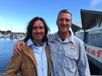Dave Gaden with Neal Oliver from UK Discovery channel